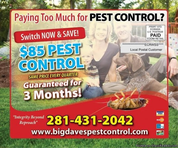 Affordable Fresno Residential Pest Control